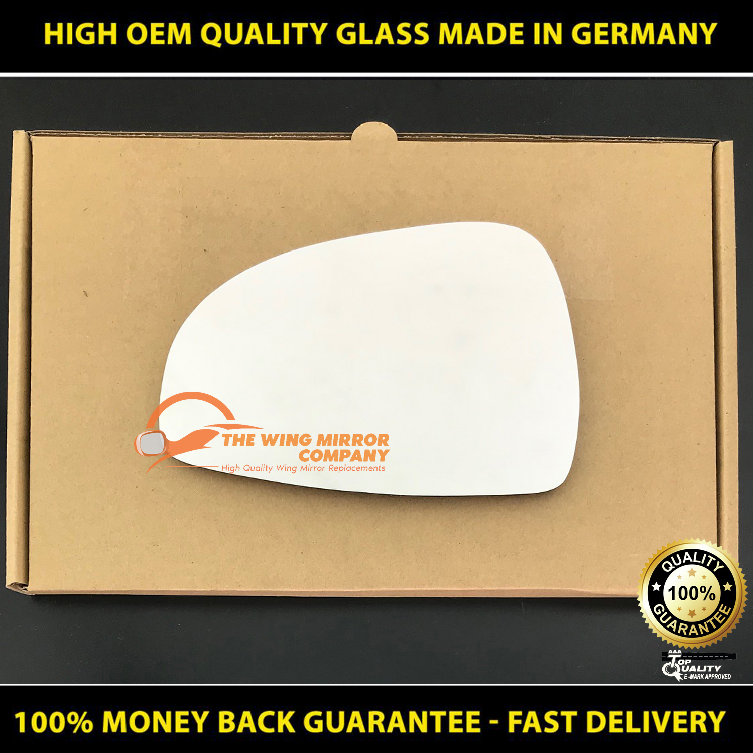 2010 2011 2012 2013 2014 2015 2016 2017 Convex Passenger Side Mirror Replacement Glass for MERCEDES-BENZ E350