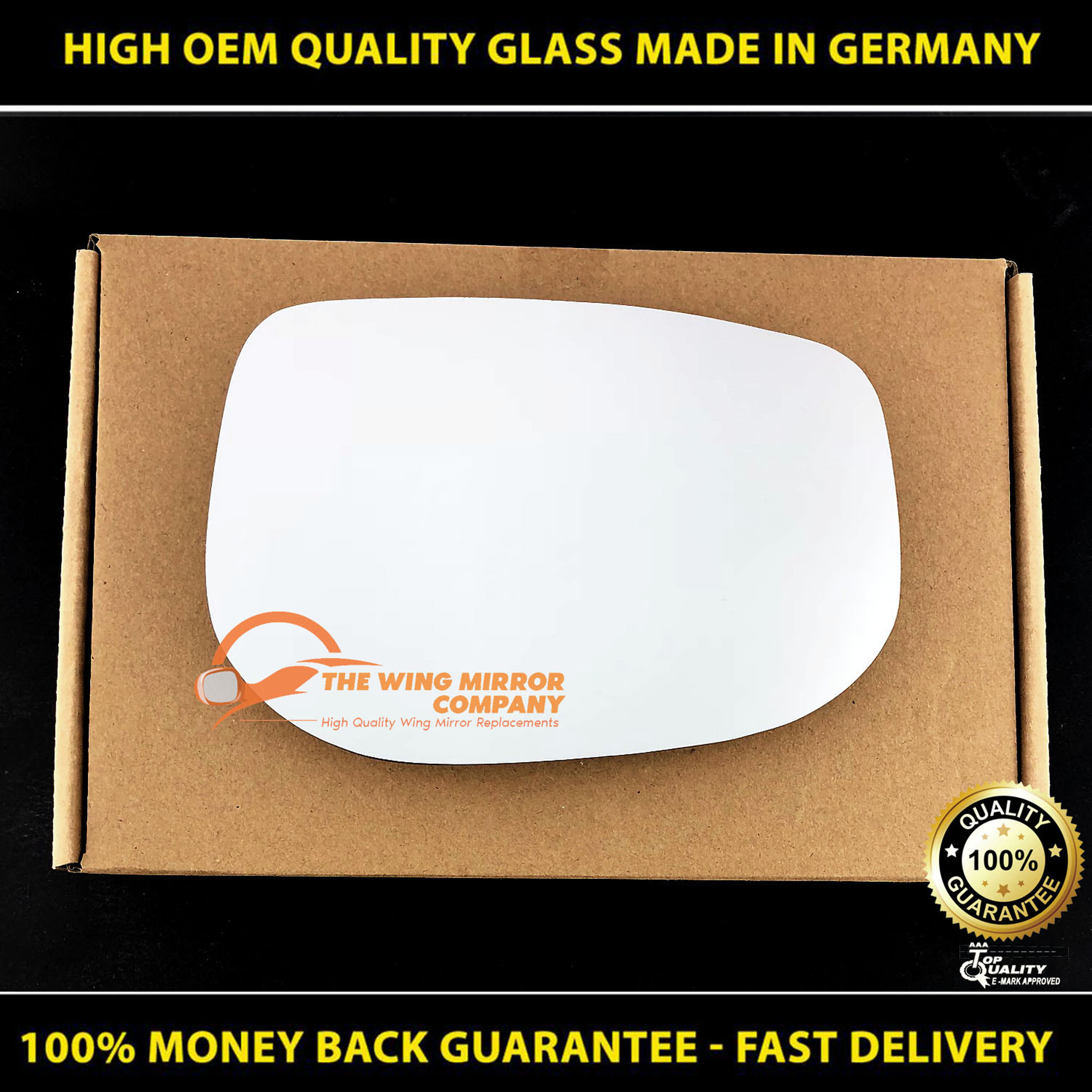 HONDA INSIGHT 2009-/>ONWARDS DRIVER//RIGHT SIDE WING MIRROR GLASS SILVER
