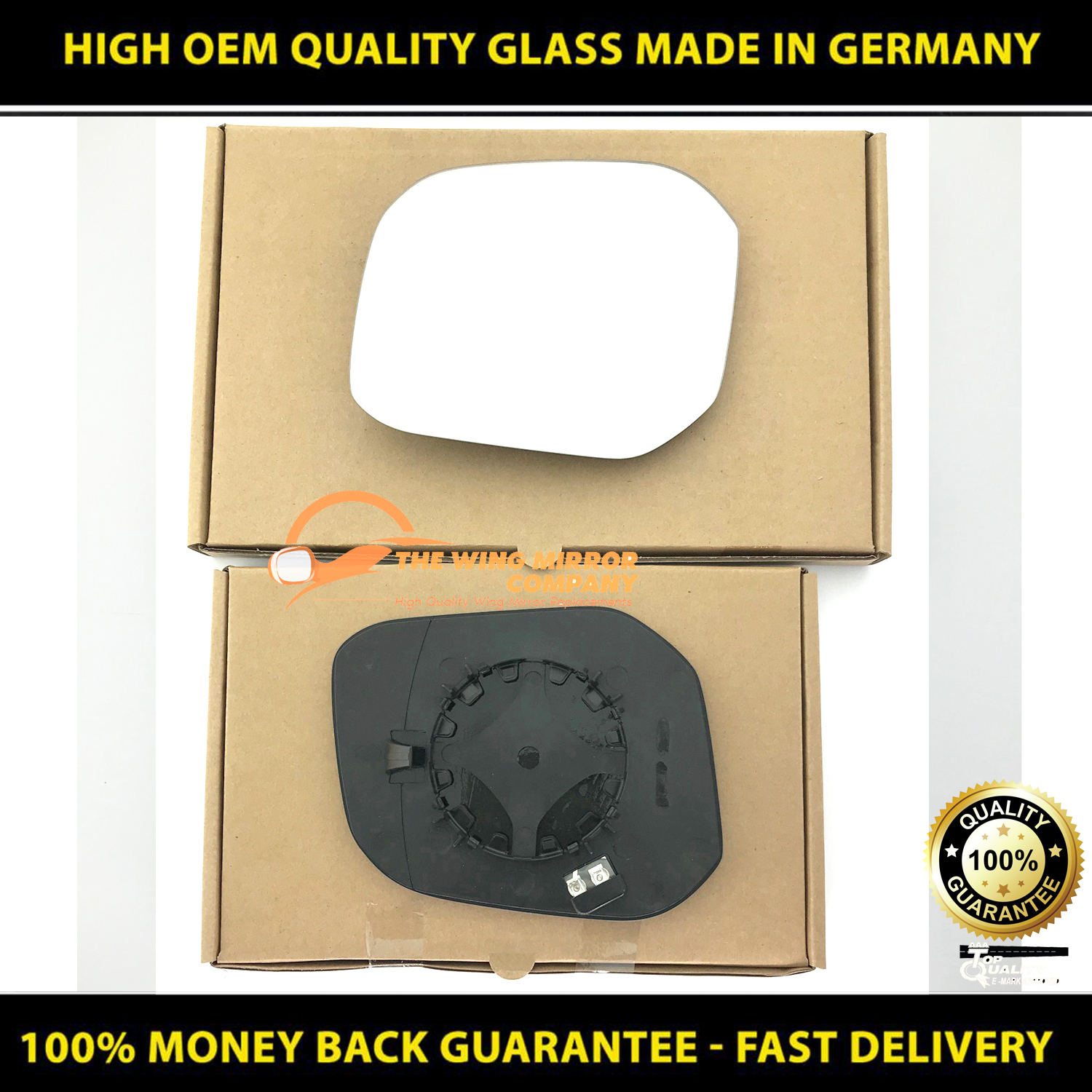 Volkswagen Caddy Wing Mirror With Base Heated Wide Angle RIGHT HAND 2015 MAY to