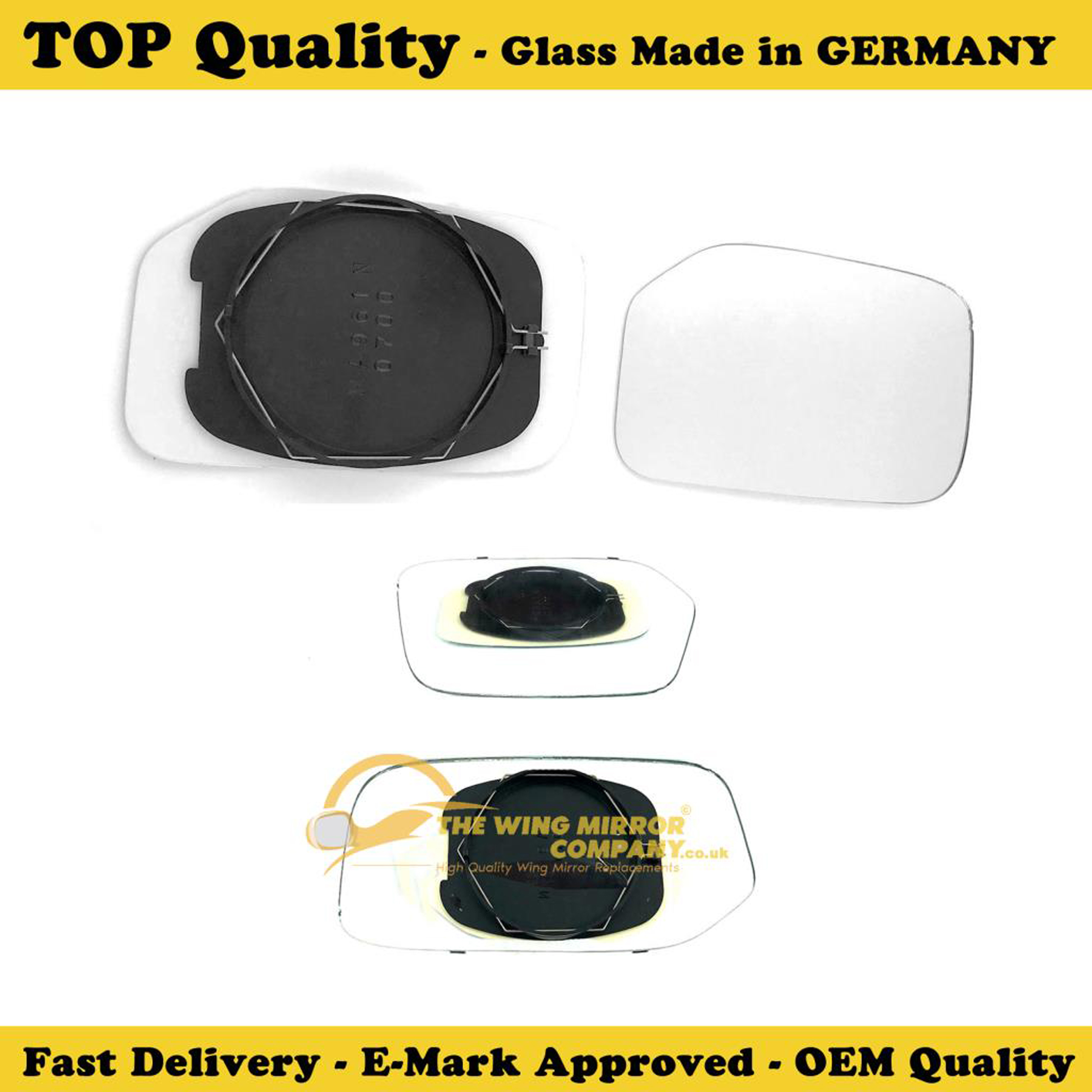 DRIVER Mirror Glass /& Base Plate PEUGEOT 106 91/>