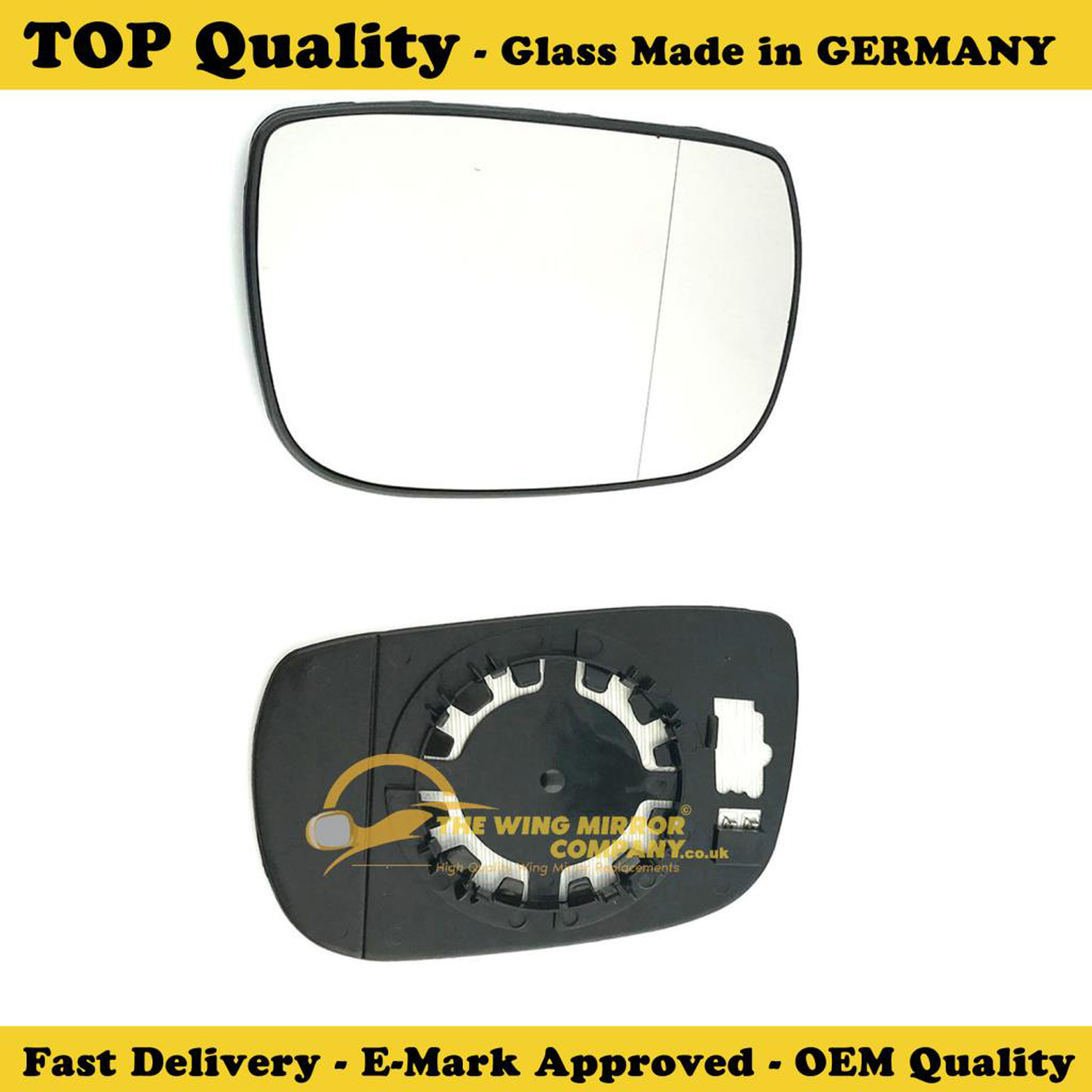 VAUXHALL AGILA WING MIRROR GLASS SILVER,NON HEATED /& BASE,RIGHT SIDE,2000-/>2008