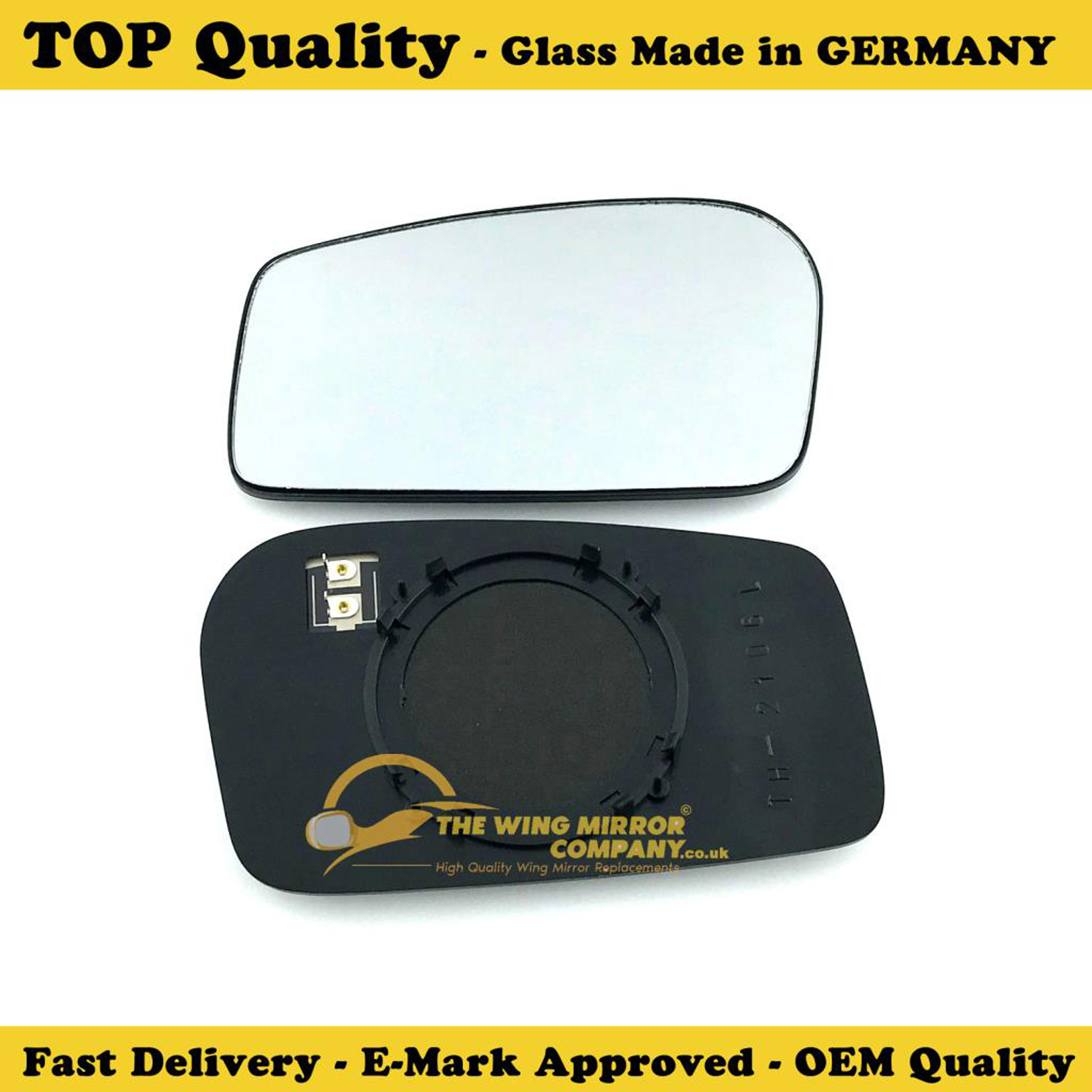 RENAULT EXPRESS 1995-/>2002 DOOR MIRROR GLASS SILVER,NON HEATED /& BASE,LEFT SIDE
