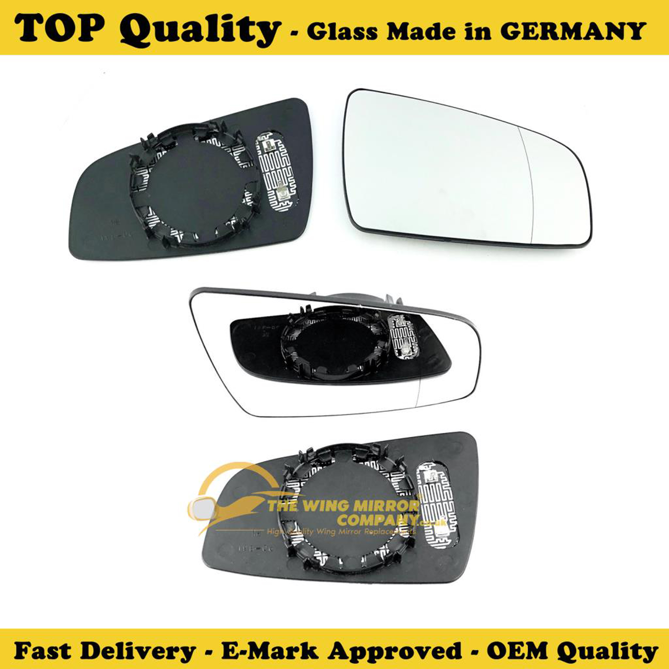 Right Side Wide Angle Wing Mirror Glass For Vauxhall