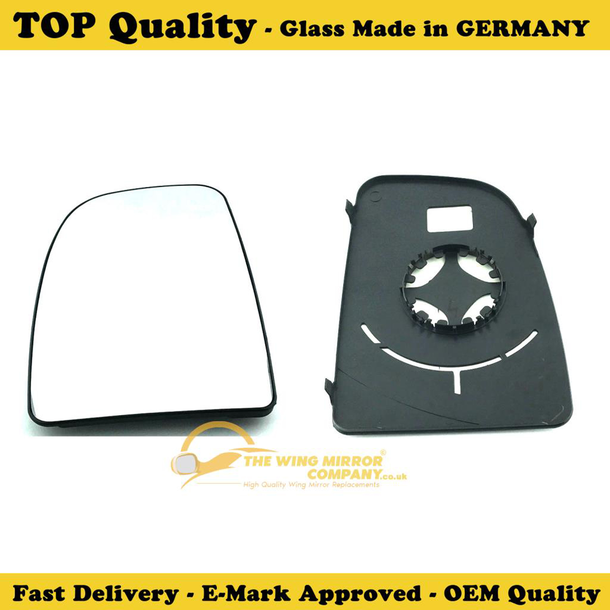 PEUGEOT BOXER 2006-/>2017 RIGHT SIDE DOOR//WING MIRROR GLASS SILVER BLIND SPOT