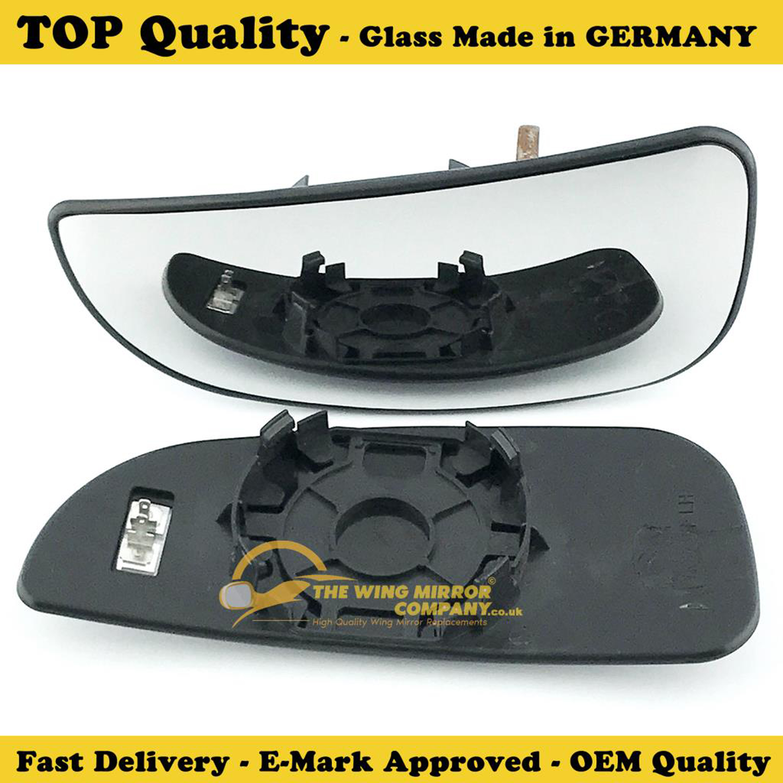 PEUGEOT BOXER 06-/>ON LEFT SIDE BLIND SPOT DOOR MIRROR GLASS SILVER HEATED /& BASE
