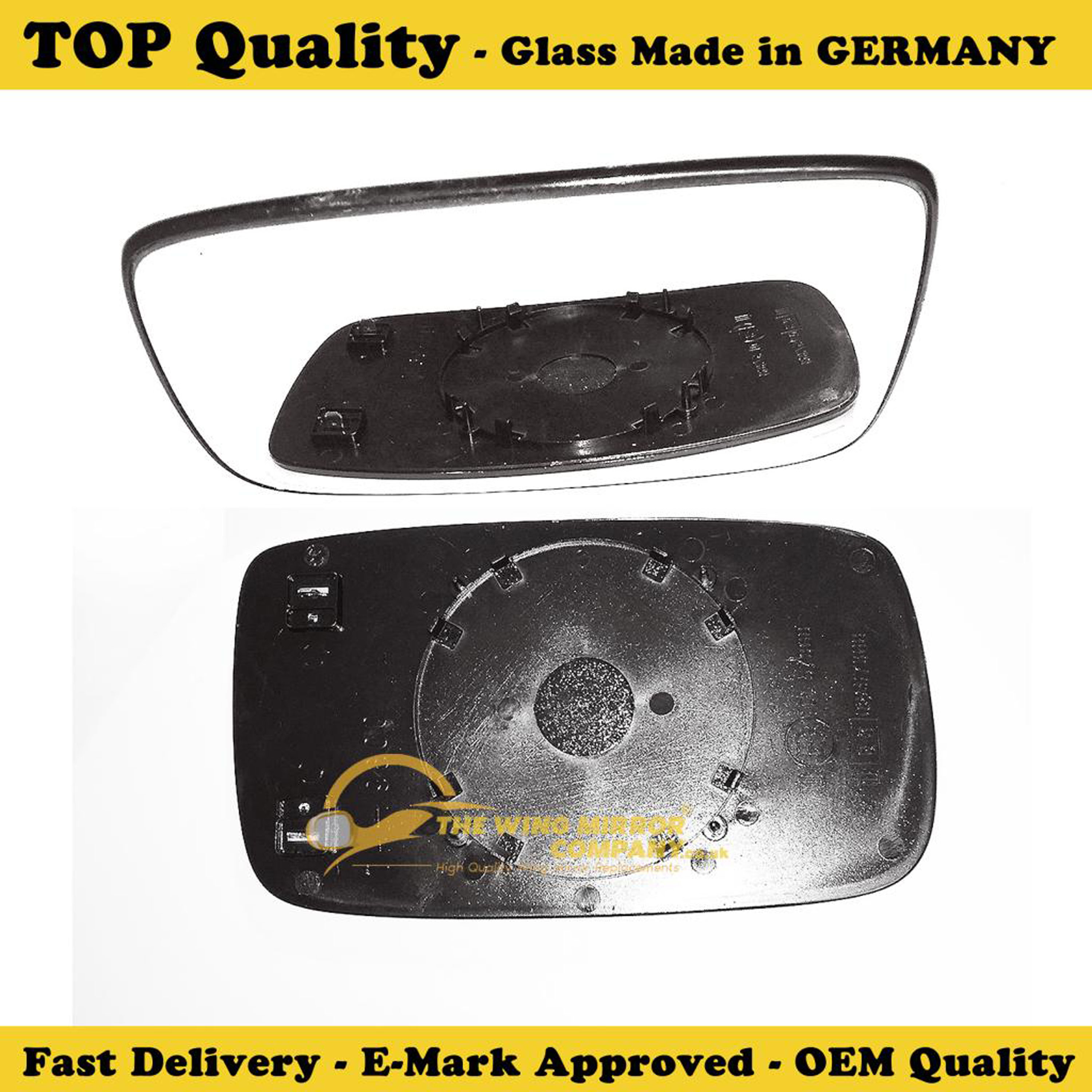Volvo V50 Wing Mirror Glass Silver,Aspheric,RH 2004 to 2006 Driver Side