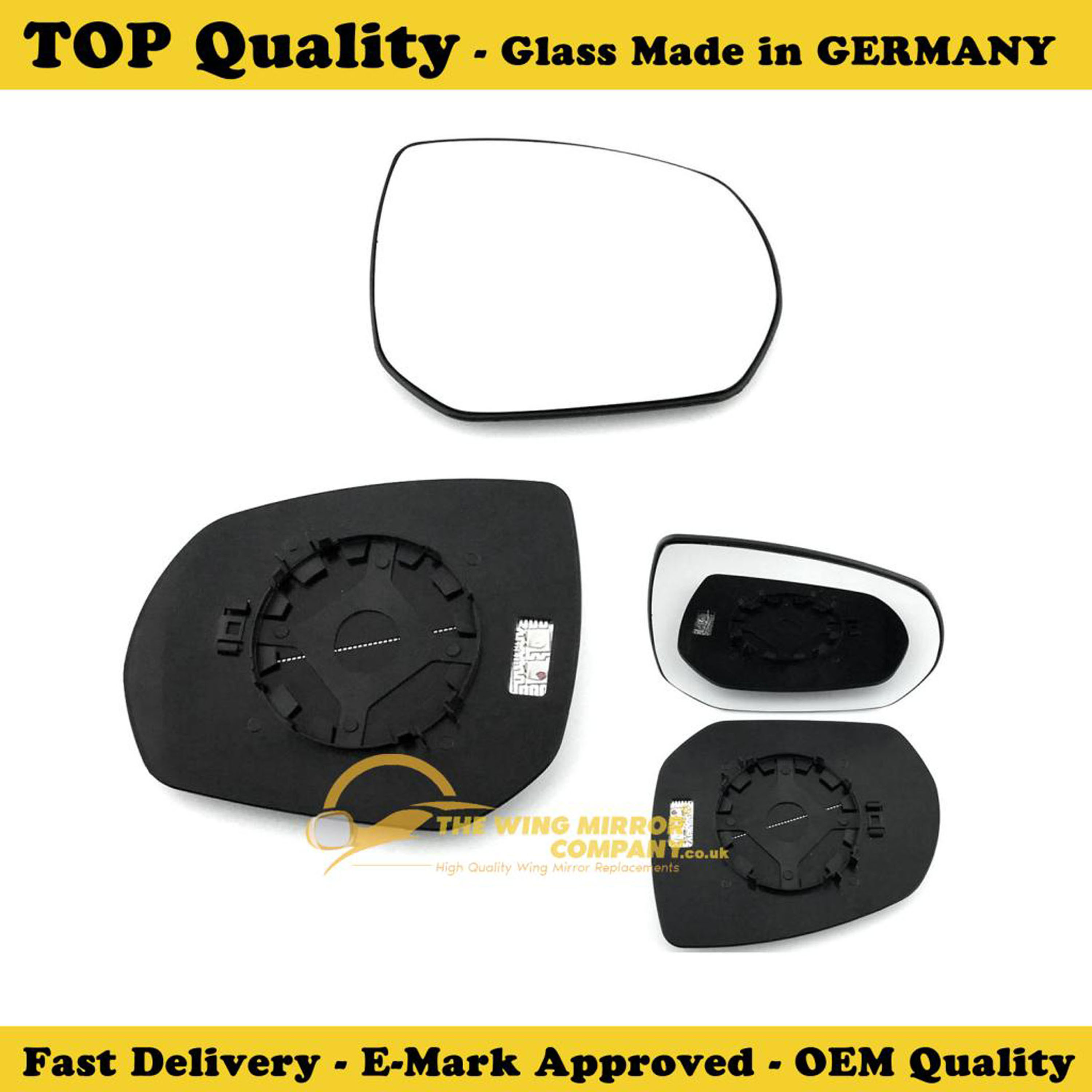 CITROEN C4 PICASSO 2007-/>2013 DOOR MIRROR GLASS SILVER,HEATED/& BASE,LEFT SIDE