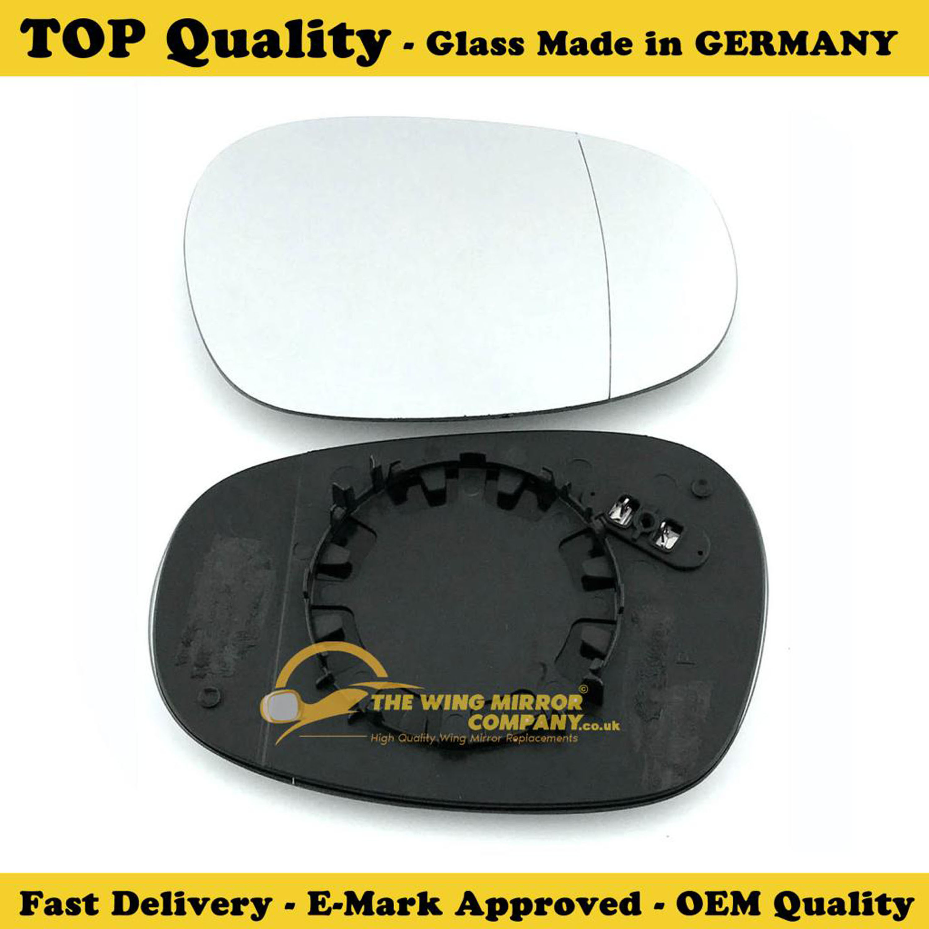 ,2004 to 2009 BMW 1 Series Wing Mirror Glass With base-Silver,Heated Aspheric,RH Driver Side