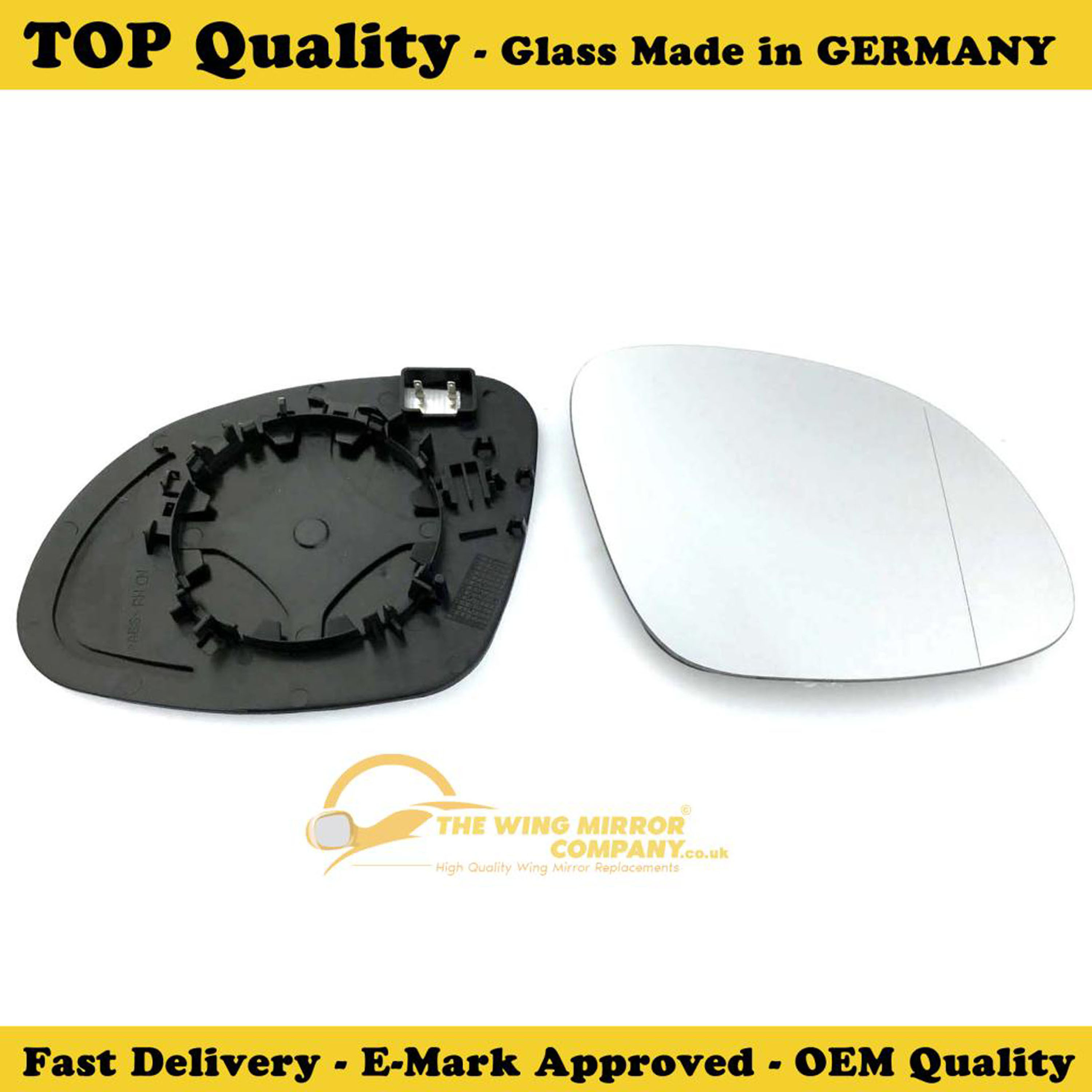 Right Side Wide Angle Wing Mirror Glass For Seat Alhambra Clip On Heated Fits to