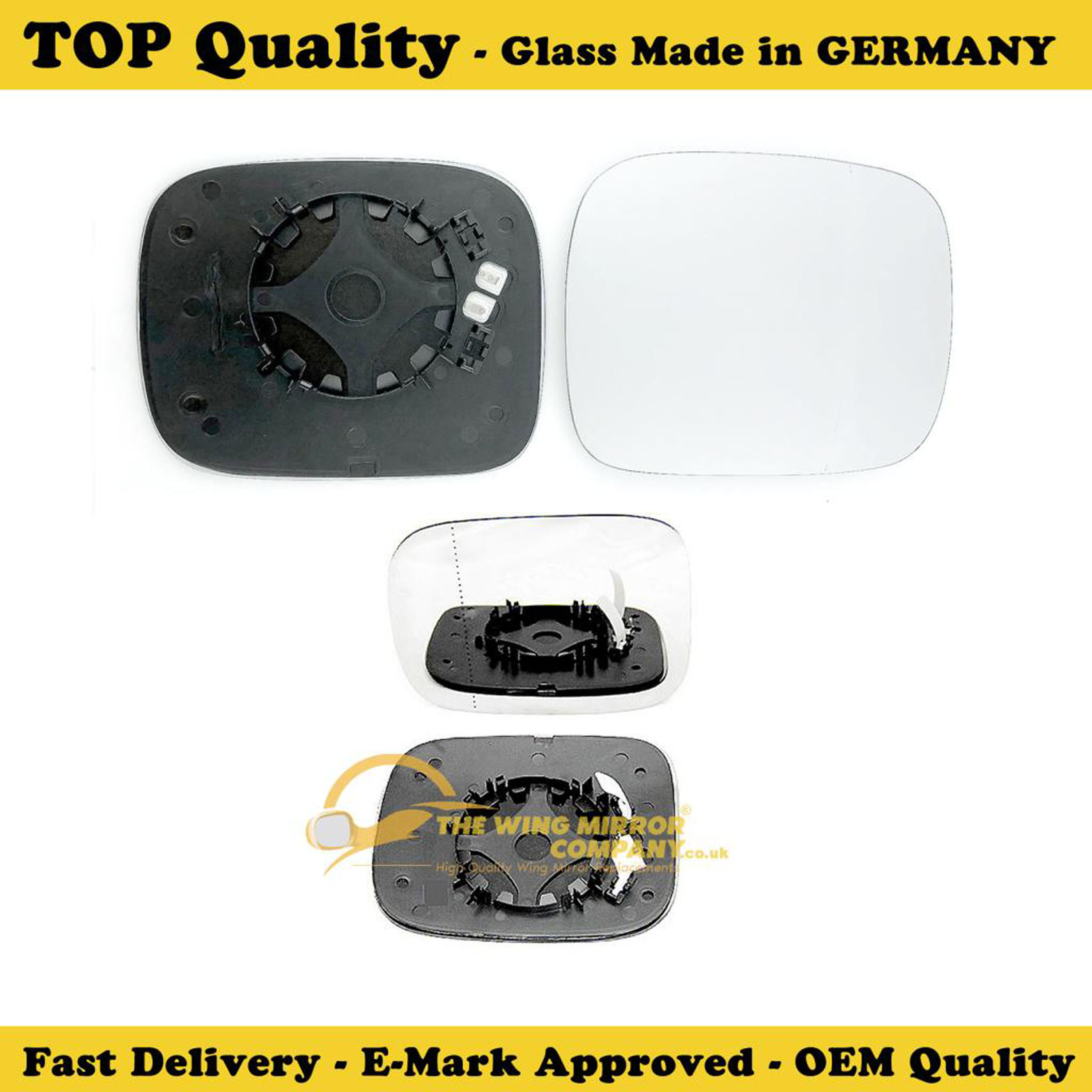 Wing Mirror Glass For Seat Leon Heated Fits to reg 2013 To 2017 Covex LHS