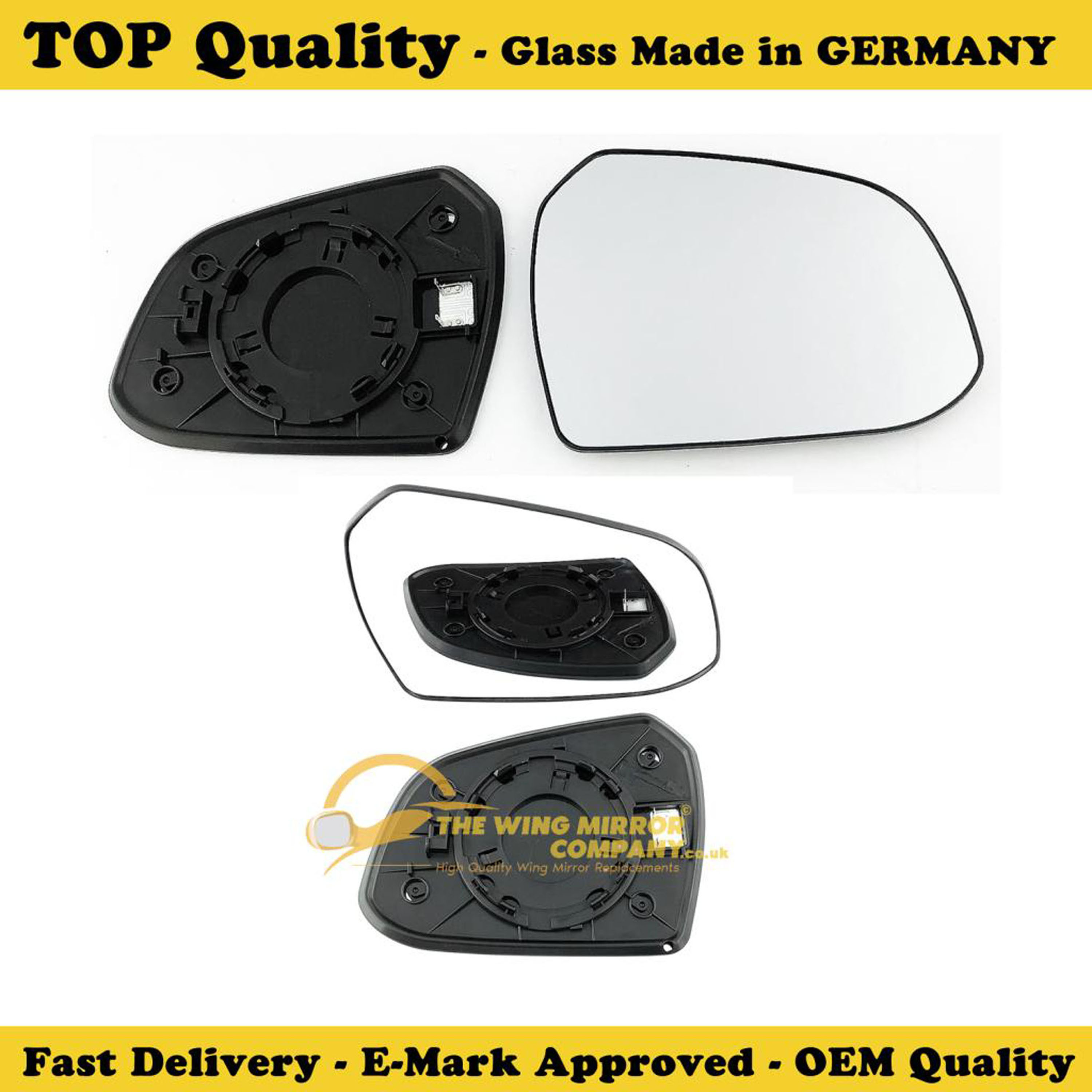 Right Side Covex Wing Mirror Glass For Hyundai I10 Heated