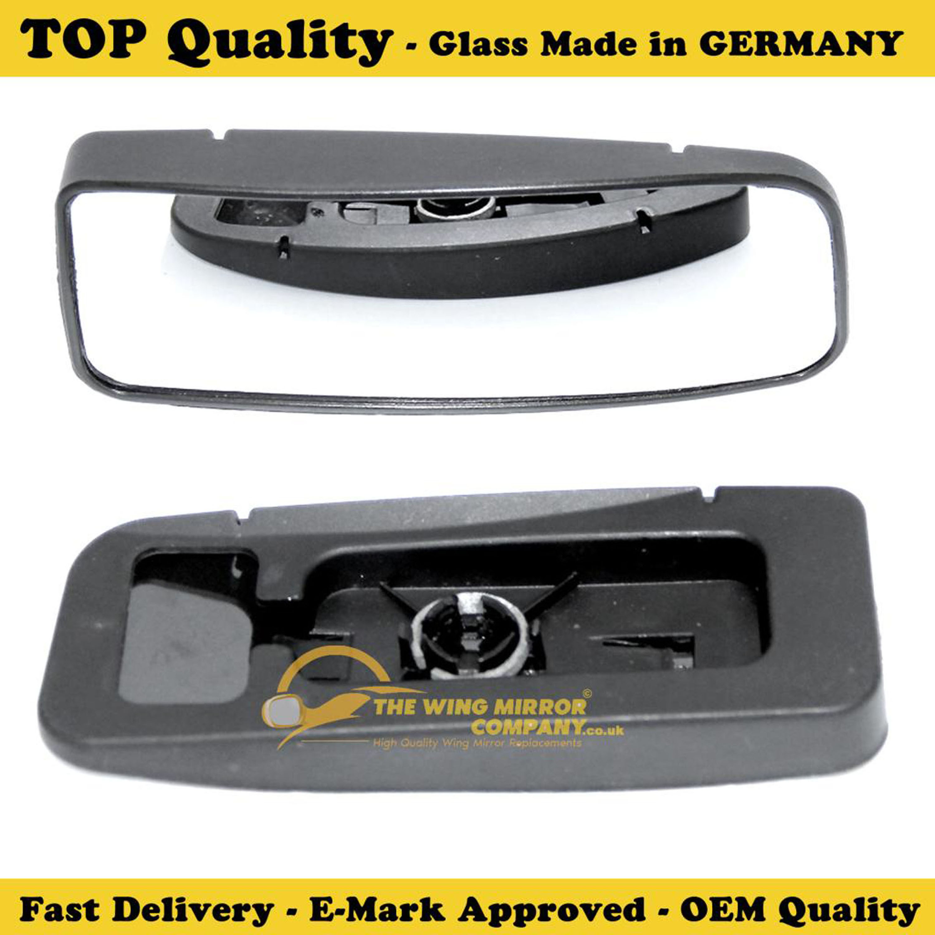 LEFT SIDE,1997-/>2003 MERCEDES CLK WING MIRROR GLASS SILVER ASPHERIC,HEATED/&BASE