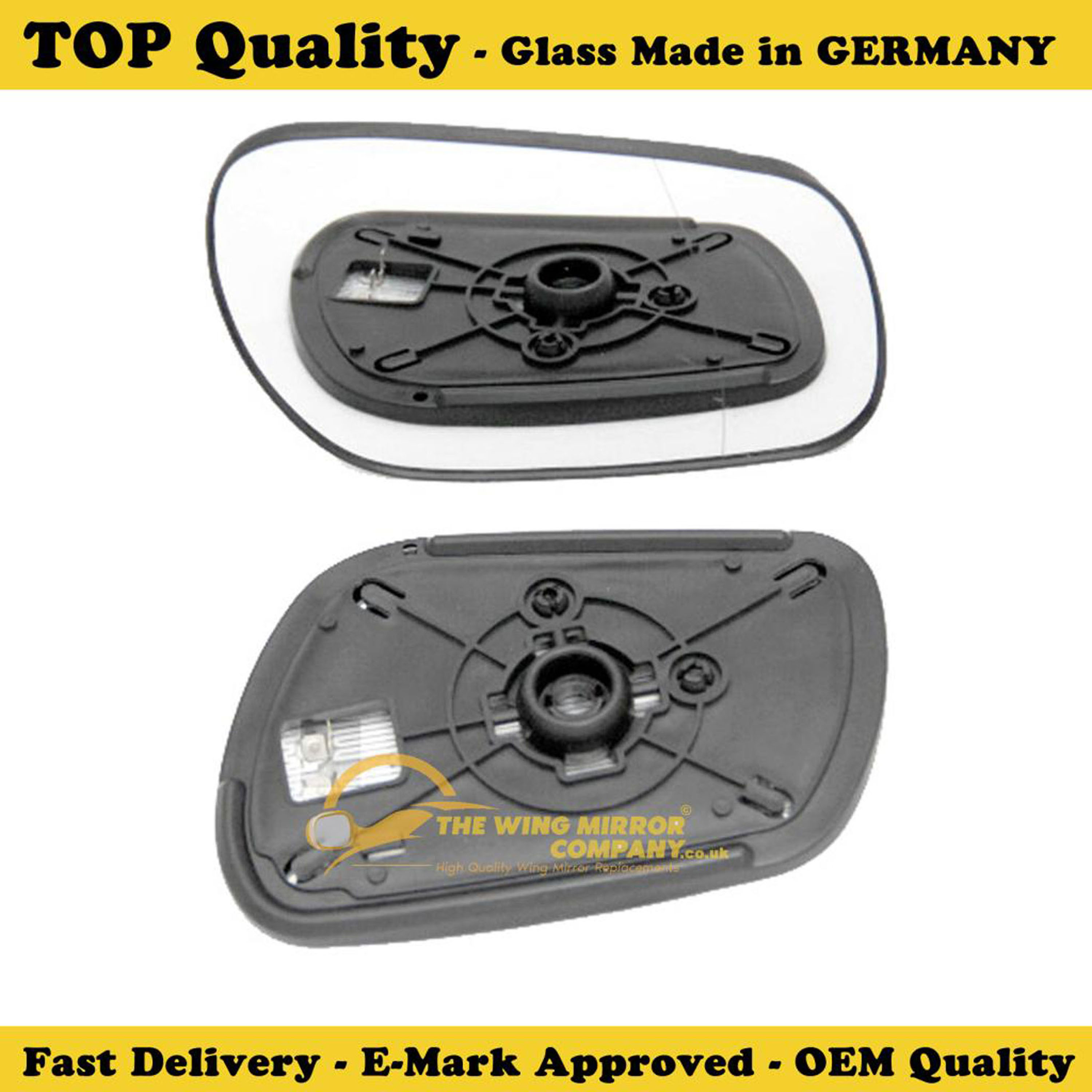 Right Driver side Flat Wing door mirror glass for Mazda 6 2002-2007 heated